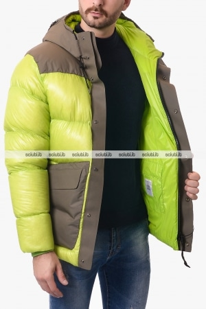 Giubbotto CP Company uomo verde DD shell mixed panel puffer