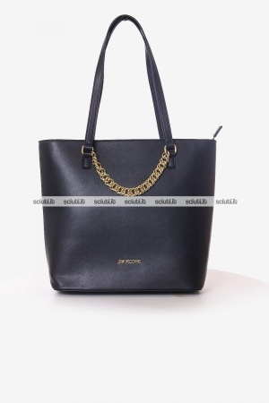 Borsa shopping Love Moschino donna nera con catena