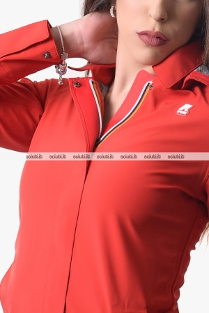 Giubbotto Kway donna rosso Mathilde bonded jersey