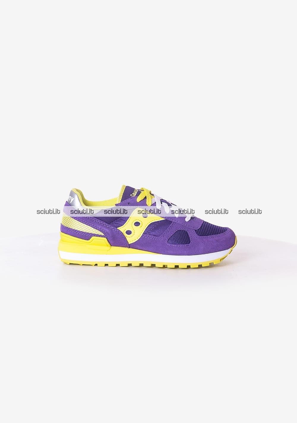 Scarpe Saucony donna Shadow viola giallo | Sciuti.it