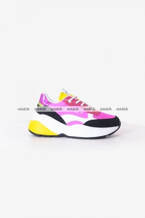 Scarpe SUN68 donna fuxia Dani nylon and mesh