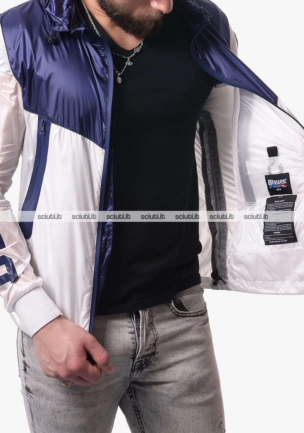 Blauer Giubbotto Uomo Bianco Blu 20SBLUC04120