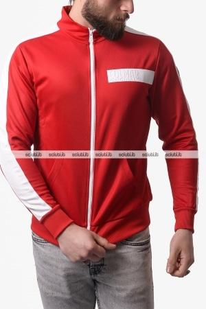 Felpa Lacoste uomo rossa fullzip con cappuccio x Novak Djokovic