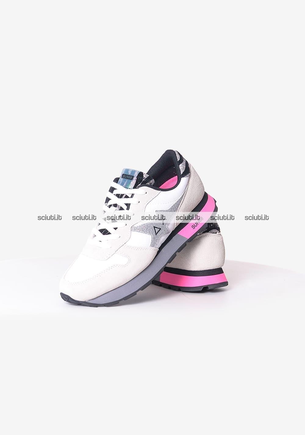 SCARPE SUN68 ALLY STAR GIRL ZEBRA Sneakers Nuove BIA58282 SCARPE FASHION DONNA